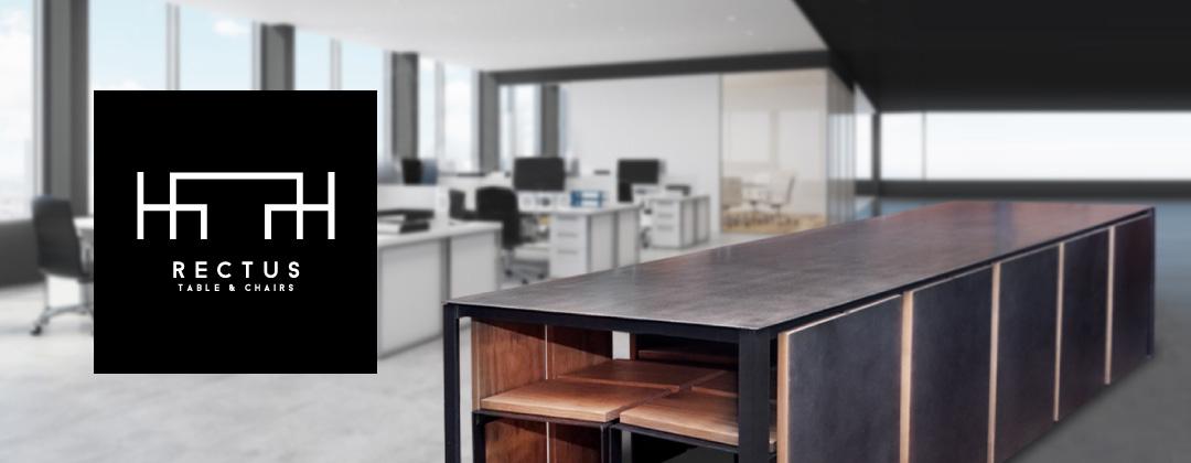 耐候性鋼ファニチャー RECTUS Table & Chairs